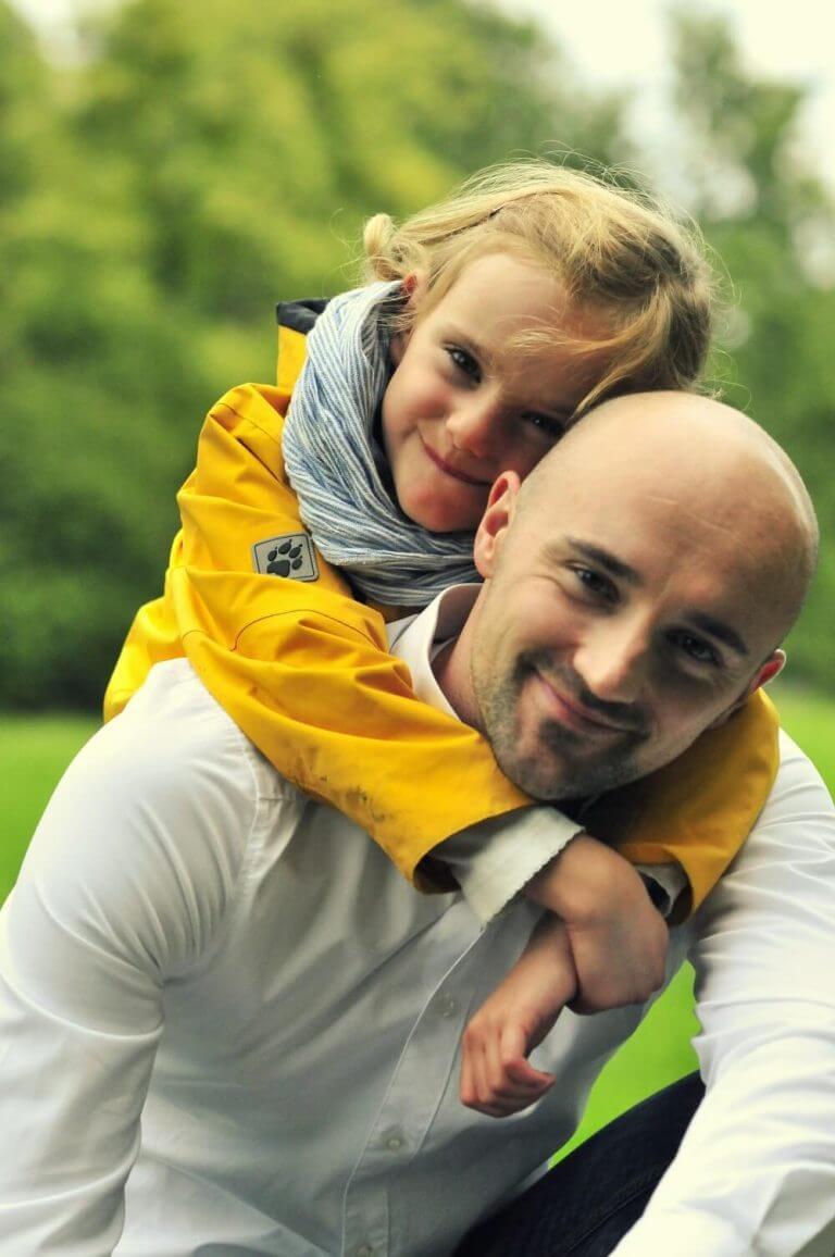 Tobias Wolfgang Reisbeck und seine Tochter von Coaching - Karlsruhe